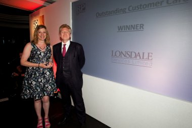 Deb Nolan, Independent Financial Adviser, Leeds Bradford accepting the award