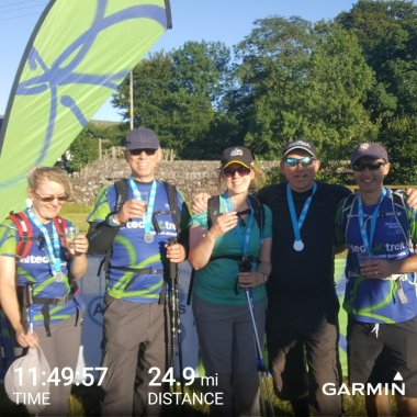 Lonsdale Trekkers after completing the Trek26 challenge