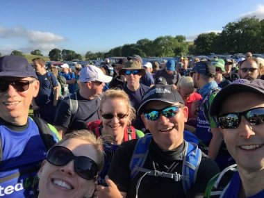 Lonsdale Trekkers selfie - at the start of Trek26