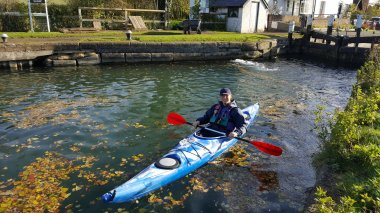 Steve Cook in training for international canoe challenge